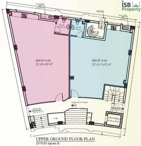Rafi Arcade Ground Floor Plan