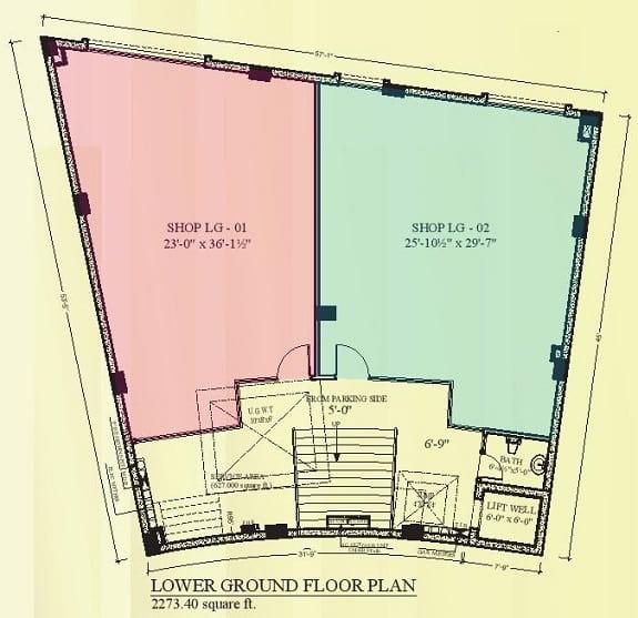Rafi Arcade Lower Ground Floor Plan