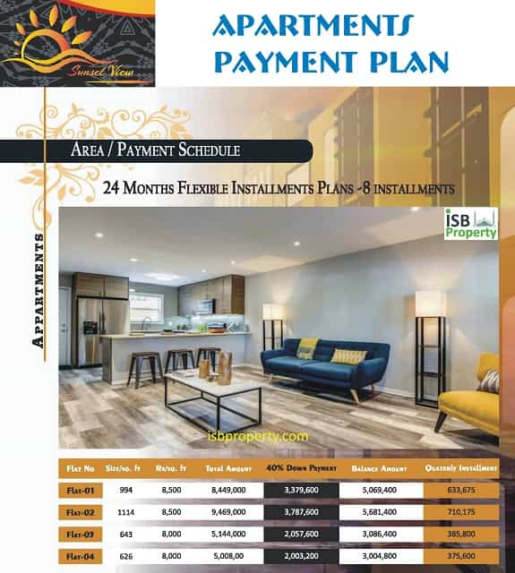 Sunset View Apartments Payment Plan