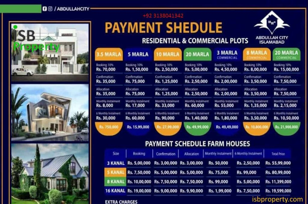 Abdullah City Payment Plan 02