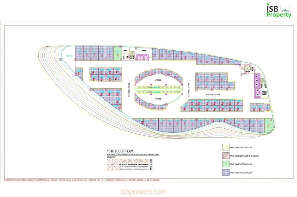 GIGA EXTENSION 15TH FLOOR LAY OUT