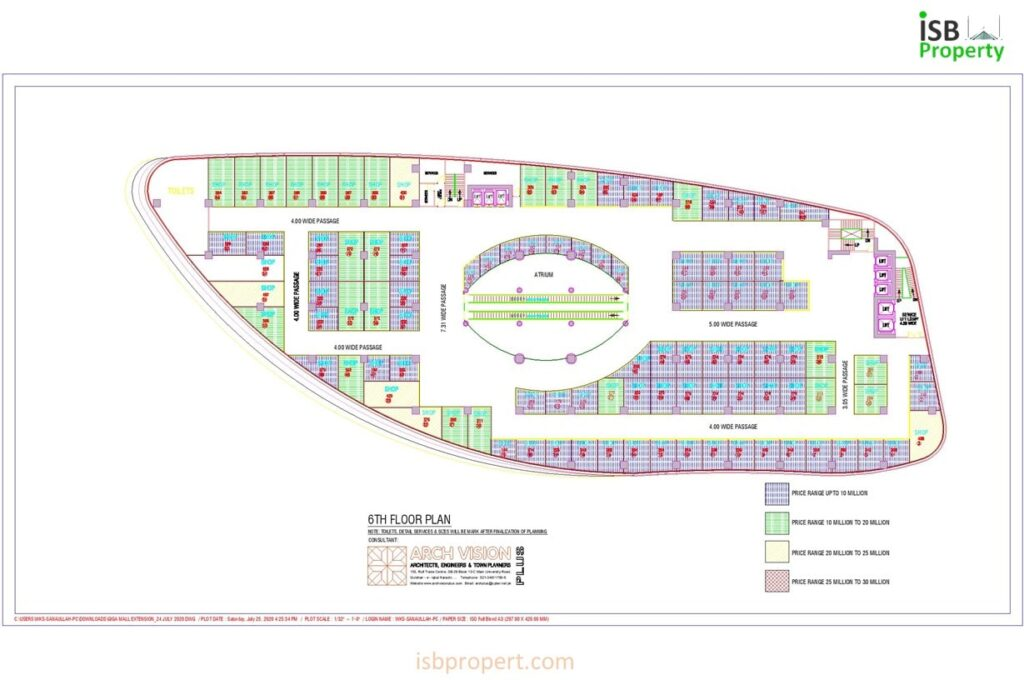 GIGA EXTENSION 6TH FLOOR LAY OUT