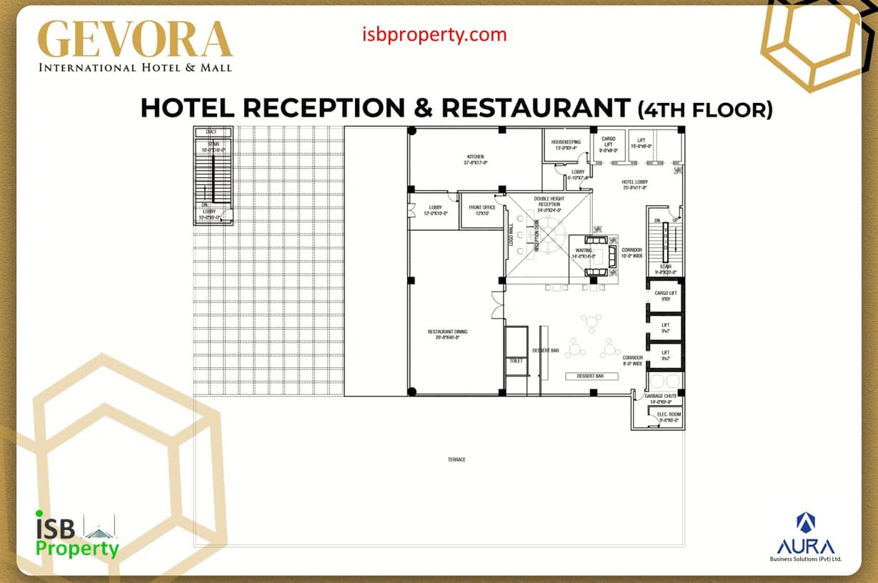 Gevora 4th Floor Reception Restaurants