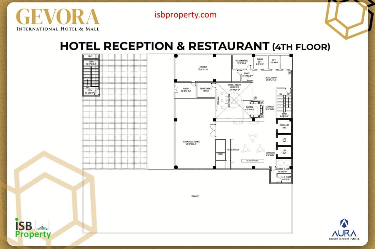 Gevora 4th Floor Reception Restaurants