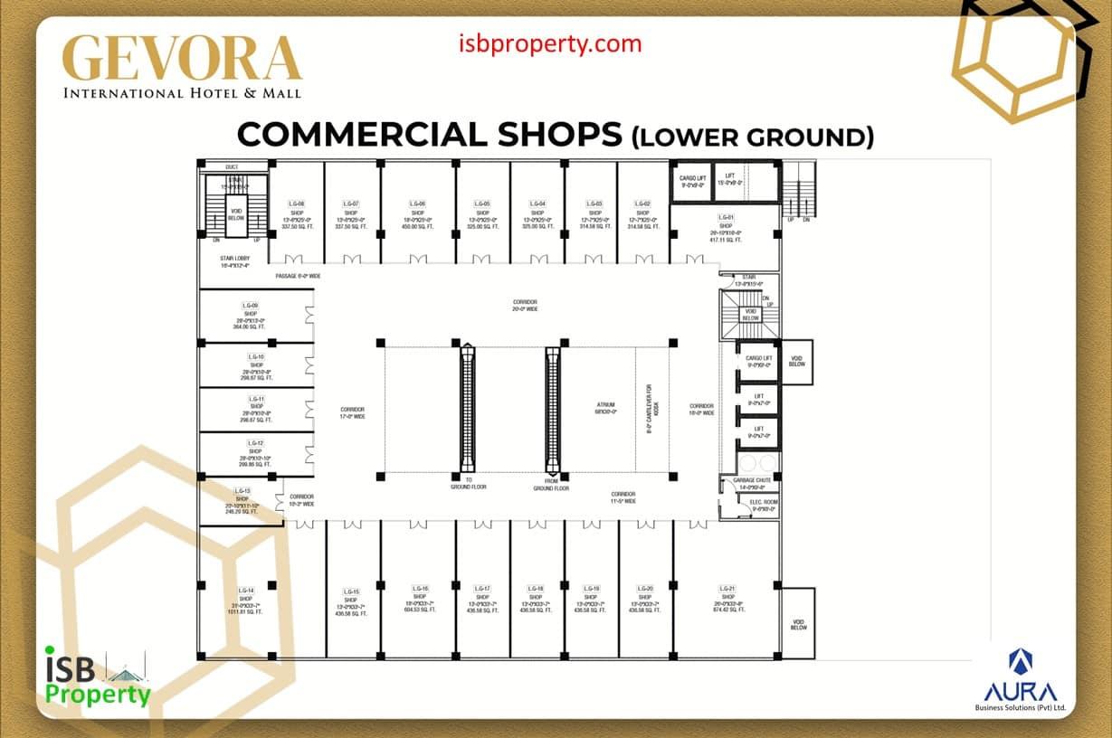 Gevora Lower Ground Plan