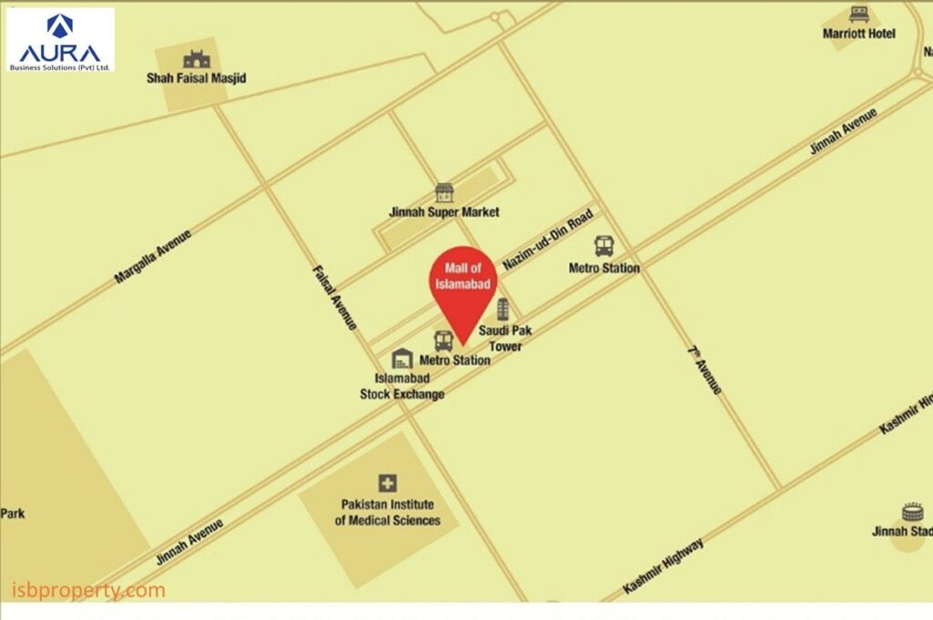 Mall of Islamabad Location Map