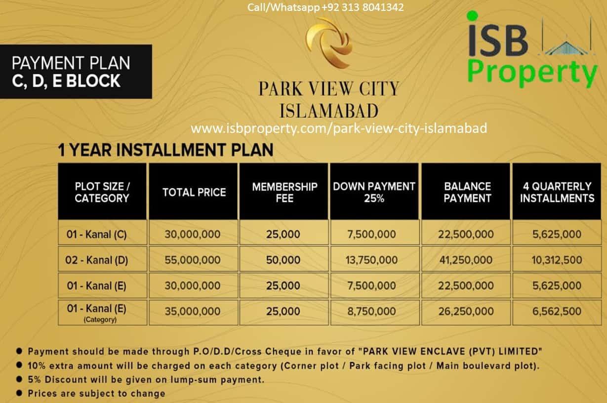 Park View City C,D, E Block