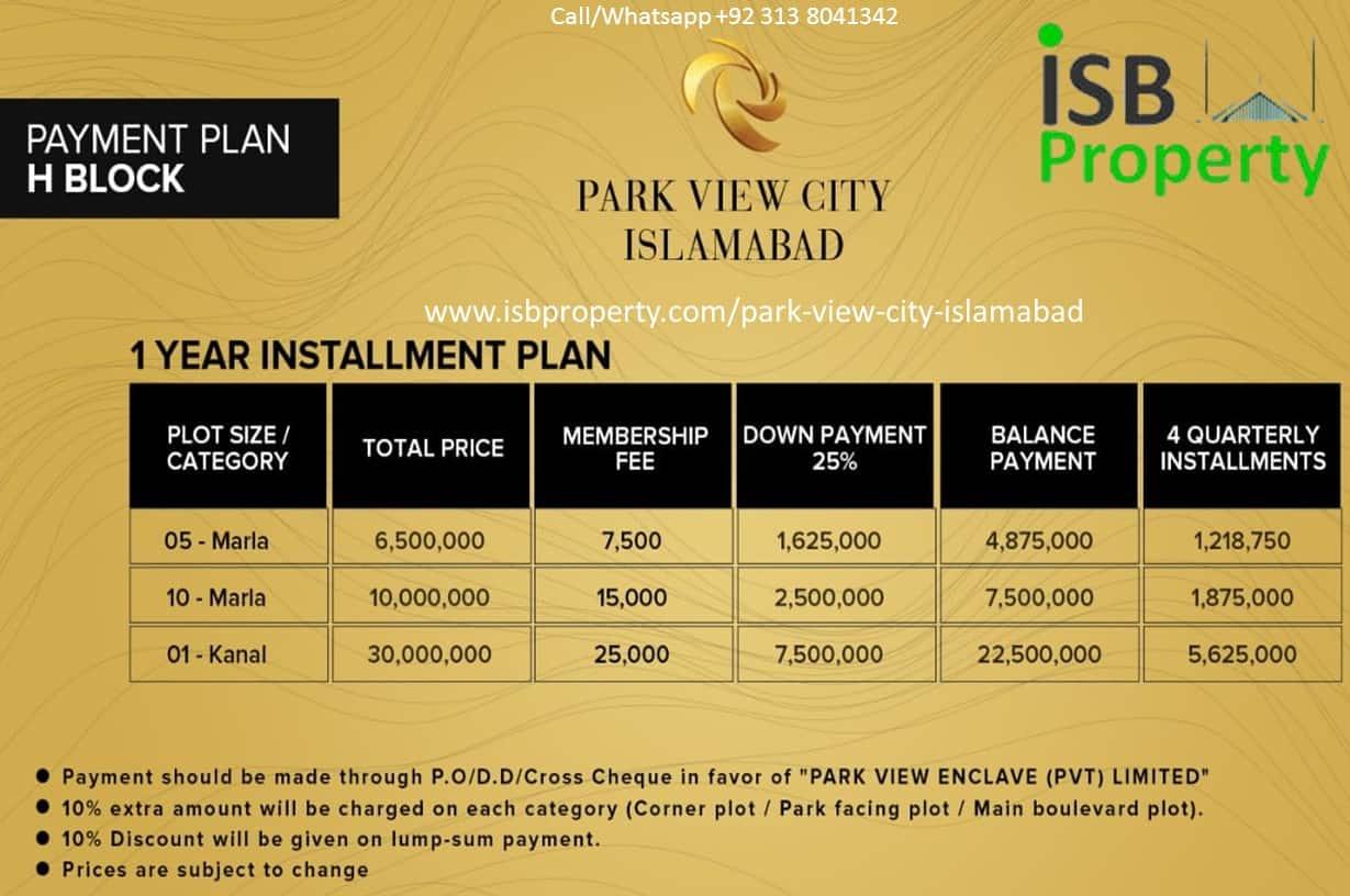 Park View City H Block