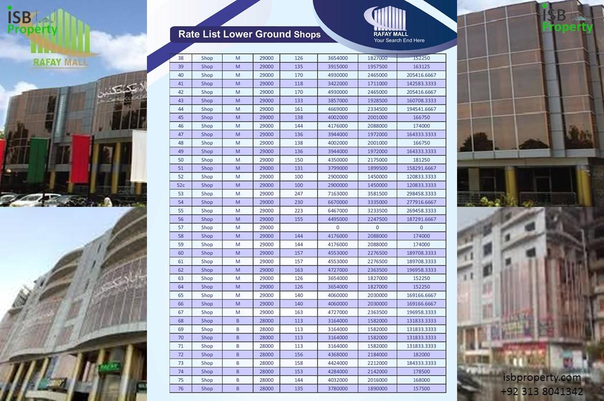 Rafay Mall Lower Ground Payment Plan 02